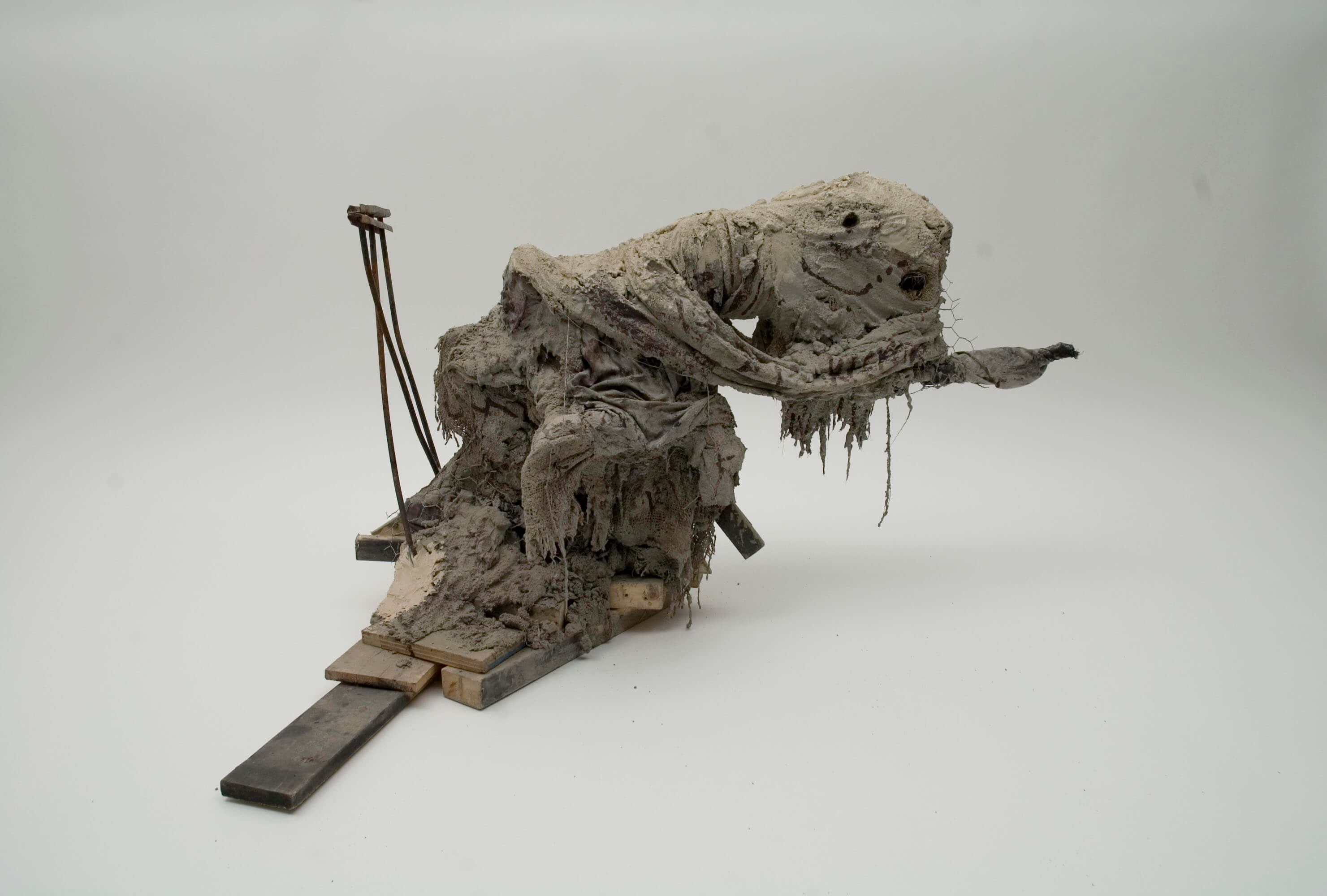 Graze, 2010, Concrete, steel and mixed media, 26_ x 32_ x 35_
